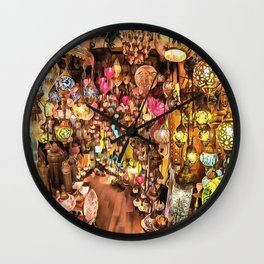 Lanterns, Lamps and Lighting of The Bazaar Wall Clock