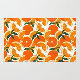 Orange Harvest - White Rug