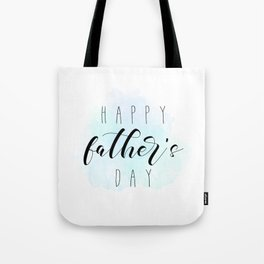 Happy Father's Day - Blue Paint Tote Bag
