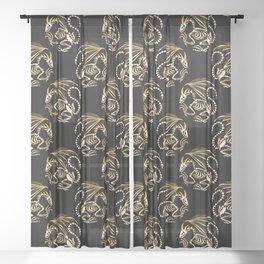 Magic dragon Sheer Curtain