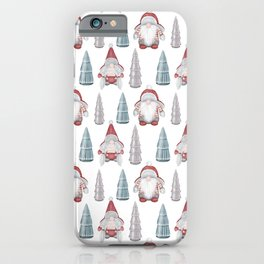 CHRISTMAS GNOMES - white iPhone Case