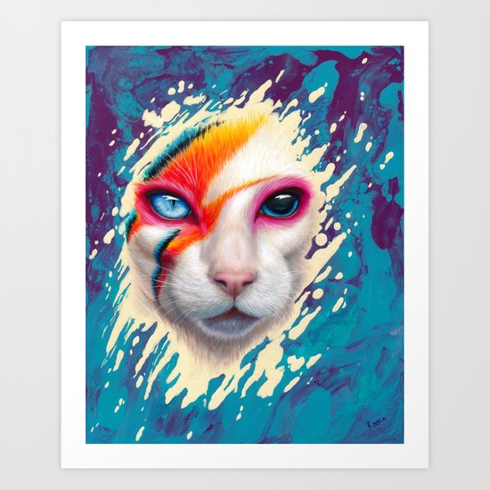 A Cat Insane by kahlapaints