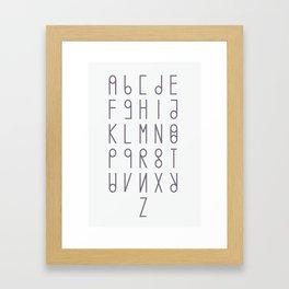 alphabet light version Framed Art Print