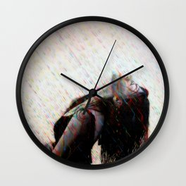 Enjoying Rain Wall Clock