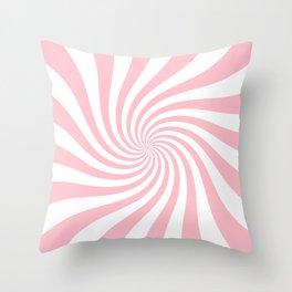 Swirl (Pink/White) Throw Pillow