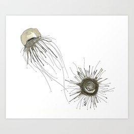 Jellyfish Duet Art Print