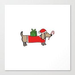 Christmas dachshund Canvas Print