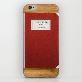 Lady into Fox Book iPhone Skin