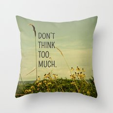 Travel Like A Bird Without a Care Throw Pillow