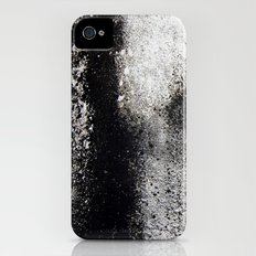 Negro sobre Blanco iPhone (4, 4s) Slim Case