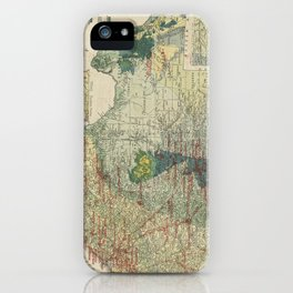 Vintage Map of The Texas Oil and Gas Fields (1920) iPhone Case