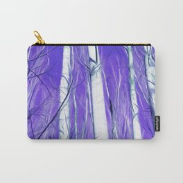White Trees Intense Blue Sky In February Carry-All Pouch