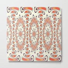 Artsy geometric pattern Metal Print
