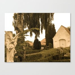Peaceful Churchyard in Denmark I  Canvas Print