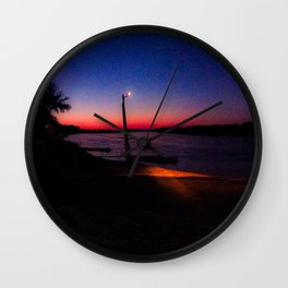 Sitting by the Sunset Wall Clock