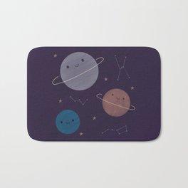Kawaii Outer Space Bath Mat