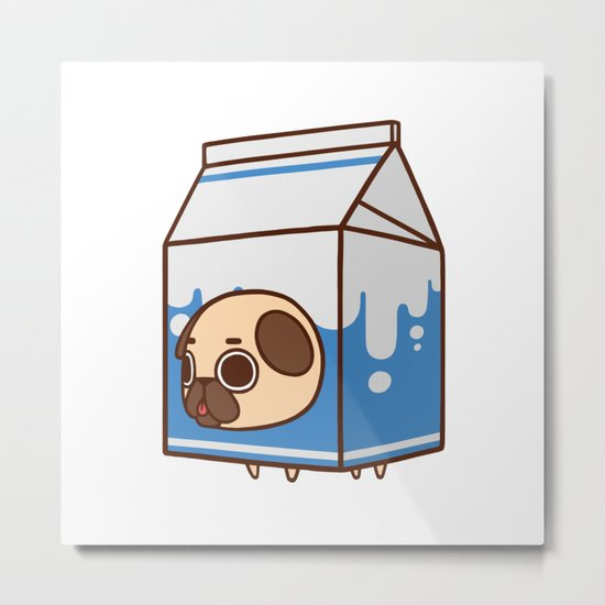 Puglie Milk Carton Metal Print