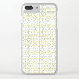 Yellow Batik Clear iPhone Case