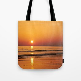 A Golden Gower Sunset Tote Bag