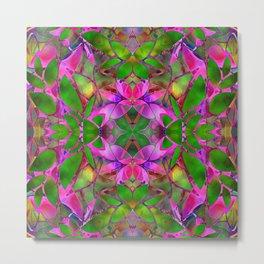 Floral Fractal Art G374 Metal Print