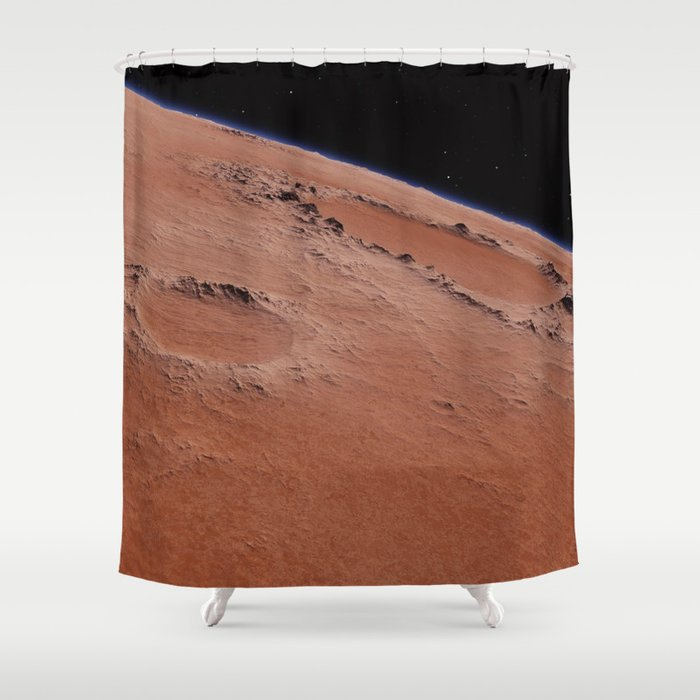 Red Planet Shower Curtain