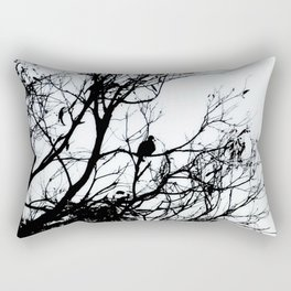 Dove Bird & Winter tree Silhouette Rectangular Pillow