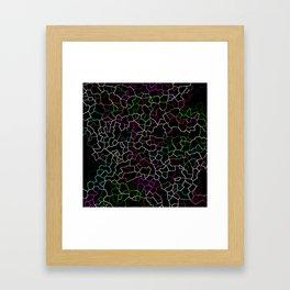 Spring Crackle Framed Art Print