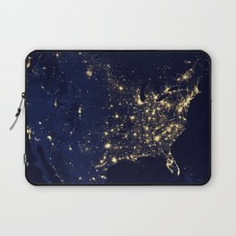 City Lights of the United States - NASA Earth Observatory Laptop Sleeve