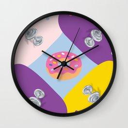 healthy donuts! Wall Clock