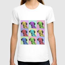 dalmatian dog pop art T-shirt