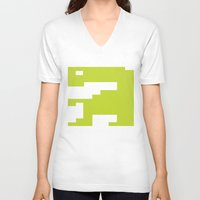 video game V-neck T-shirts featuring Worst Video Game Ever by Silvio Ledbetter