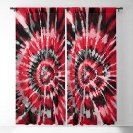 Red Tie Dye Blackout Curtain