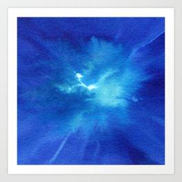 Blue Powder Art Print