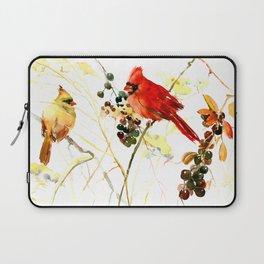 Cardinal Birds and Berries Laptop Sleeve