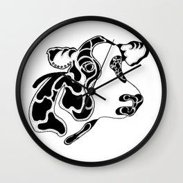 Cow in Ink Wall Clock