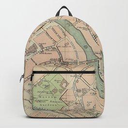 Vintage Map of York England (1890) Backpack