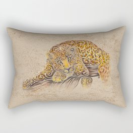 Swirly Leopard Rectangular Pillow