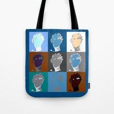 blind contour self portrait Tote Bag
