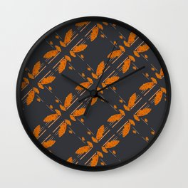 Orange chamomiles Wall Clock