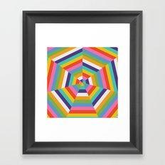 Heptagon Quilt 4 Framed Art Print