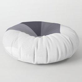 Sawtooth Blue Grey Floor Pillow