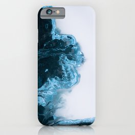 Abstract Aerial Lake in Iceland – Minimalist Landscape Photography iPhone Case