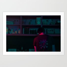 He Screens Art Print