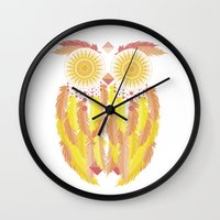 coachella Wall Clocks featuring Coachella by Dulce Velasco