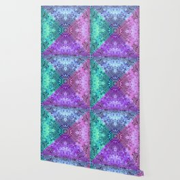 India Pattern Mandala Cloudy Clotting Blue Pink Purple Teal Wallpaper