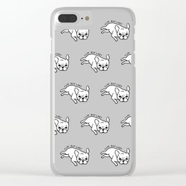 Cute but lazy French Bulldog design for Frenchie lovers Clear iPhone Case