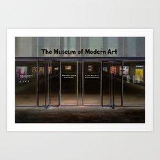 MoMA's Rules (oil on canvas) Art Print