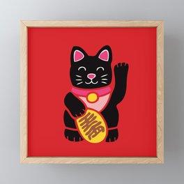 Lucky Black Cat Framed Mini Art Print