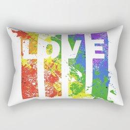 LOVE/COLOR Rectangular Pillow
