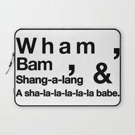 Wham Bam Shang-a-lang - Helvetica List Laptop Sleeve